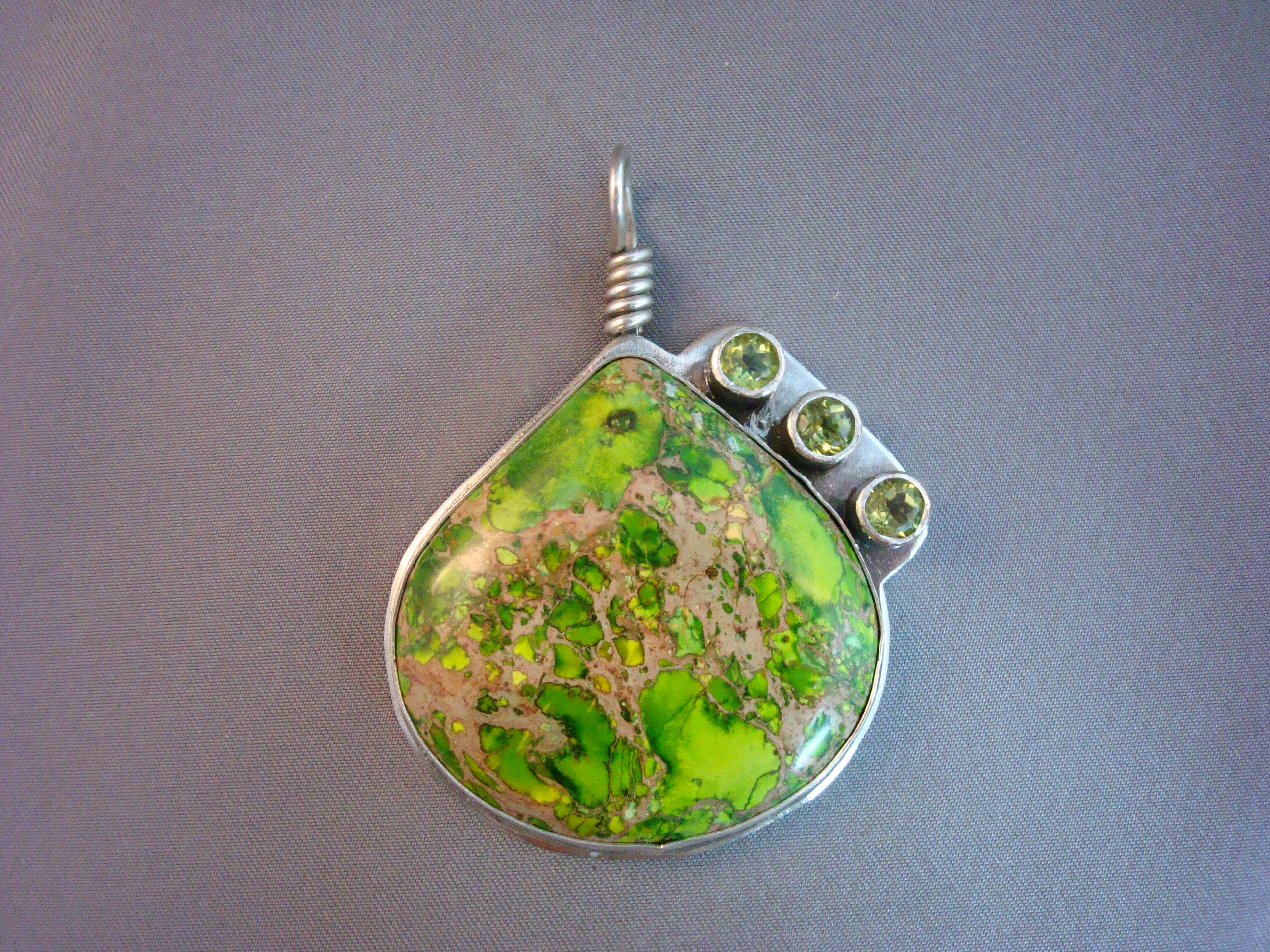 Sea Sediment Jasper with Peridots